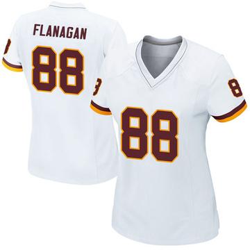 Women's Matt Flanagan Washington Redskins Game White Jersey